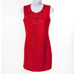 Romeo & Juliet Couture Red Beaded Dress - M